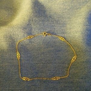 Real 14kt Gold Ankle Bracelet